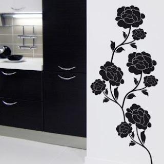 Black Flower Wall Stickers