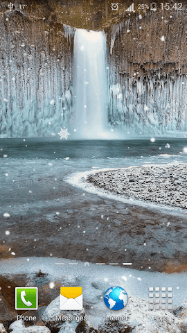 android Frozen Waterfall HD Wallpaper Screenshot 6