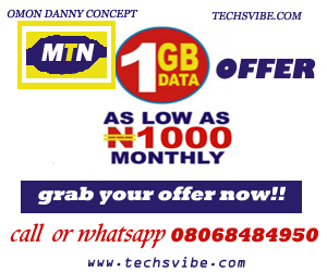 Mtn data bundle offer: get 1gb, 2gb, 3gb, 4gb for 1,100 naira  25255BUNSET 25255D