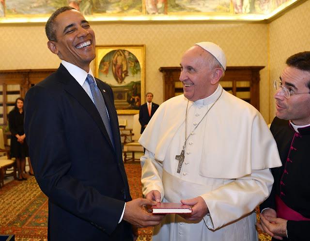US President Barack Obama and Pope Francis