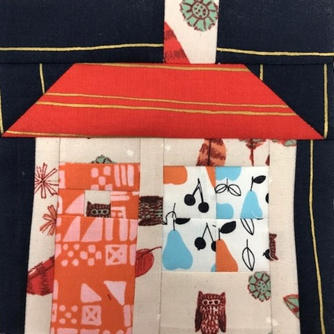 house by Kim lapacek - Clover Persimmon Tiny Tiles Cozy Natural Dream Owl Fruit Dots Navy and Orange Gold Stripe