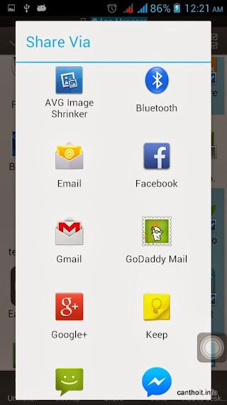 Các phương thức share file Apk