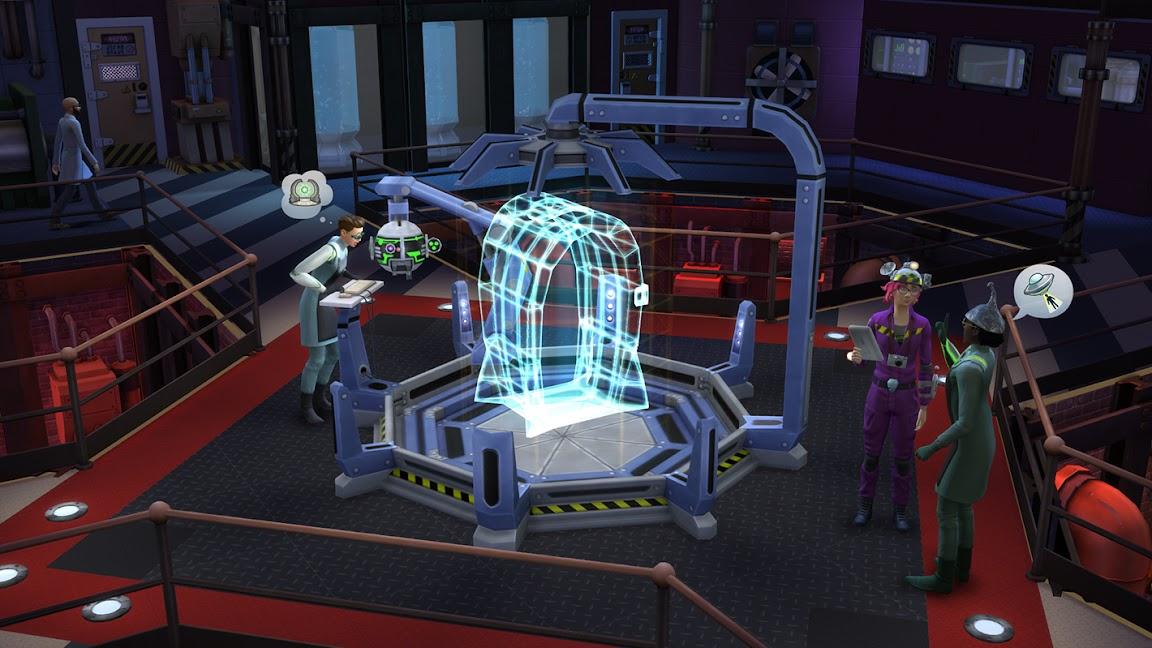 De Sims 4 Aan het Werk wetenschapper