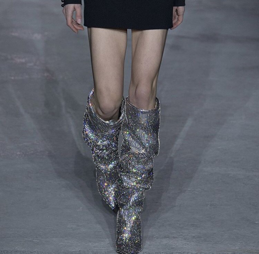 Who Wore It Better: YSL Rhinestone Boots
