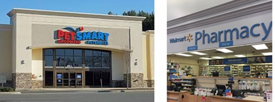PetSmart and Walmart
