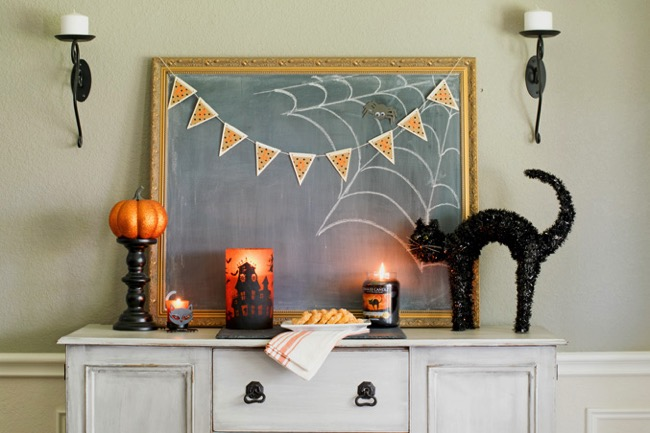 Dining Room Buffet Halloween Decor
