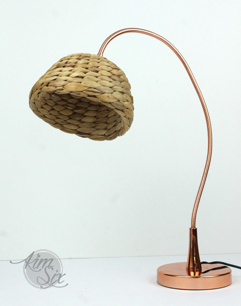 Hyacinth basket into lamp shade
