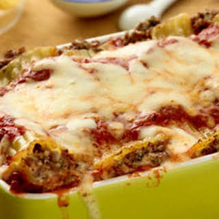 Beef and Cheese Manicotti.