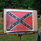 Confederate Flag and sword from Civil War...yes, that stain on the left is blood