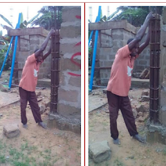 Effiong from Udung Okung allegedly gets stuck while attempting to steal building materials in Esuk Oro, Oron, Akwa Ibom