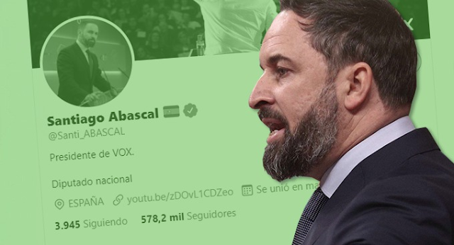 Santiago Abascal. Twitter