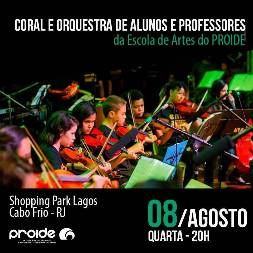 Park Lagos recebe Coral e orquestra de Projeto Social Cabofriense nesta quarta (08)