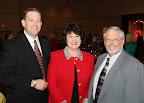 Peter Gerard, Tanya Allgood, Trophy Club Mayor Nick Sanders.
