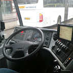 het dashboard van bus 8284 van Conexxion