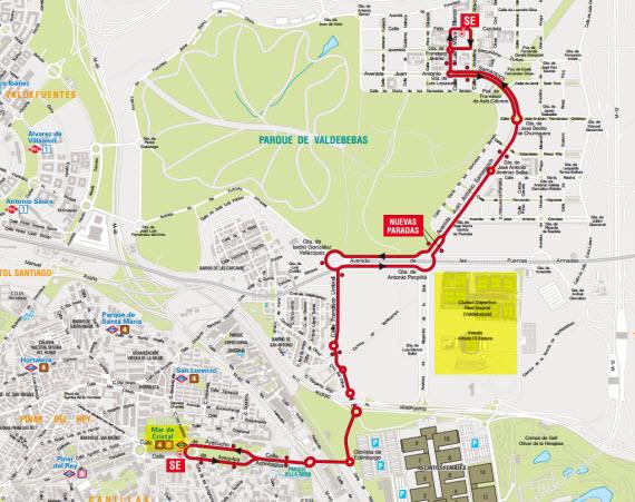 Nuevo servicio de autobuses EMT entre Valdebebas y Mar de Cristal
