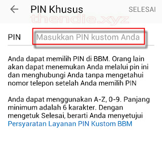 custom pin bbm free
