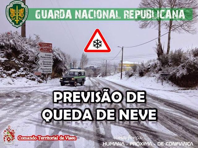 Alerta - Previsão de queda de neve - 20 de Janeiro - Distrito de Viseu