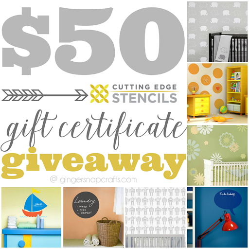 $50 Cutting Edge Stencils Gift Certificate Giveaway #giveaway