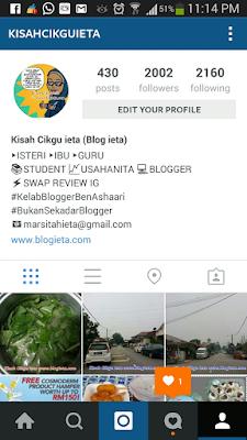 Blogger, blog ieta dot com, bukan sekadar blogger, food review blogger, ieta info line, kbba lembahklang, kelab blogger ben ashaari, kisah cikgu ieta, malaysian blogger, malaysian food, media team, media viral, Oh Blogger, Tips, Tips Instagram, instagram, bagaimana naikkan follower instagram, naikkan follower