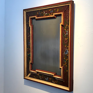 Reverse Painted Framed Mirror