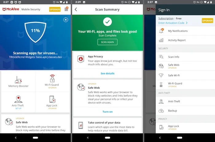 Android Apps to Find Lost Phones McAfee Mobile Security