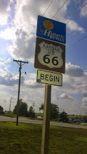 Photo: August 7-Kansas has the tiniest stretch of the Mother Road.  The Interstate bypasses it completely, but the original Route 66 has about thirteen miles.