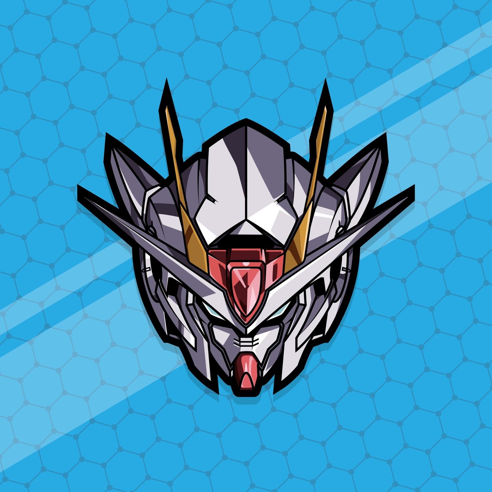 Esport Gamer Logo Gundam Free Download Vector CDR, AI, EPS and PNG Formats