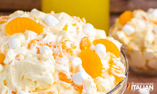 mandarin orange salad closeup