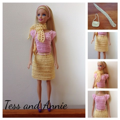 Tess And Annie Free Crochet Pattern Spring Barbie Outfit