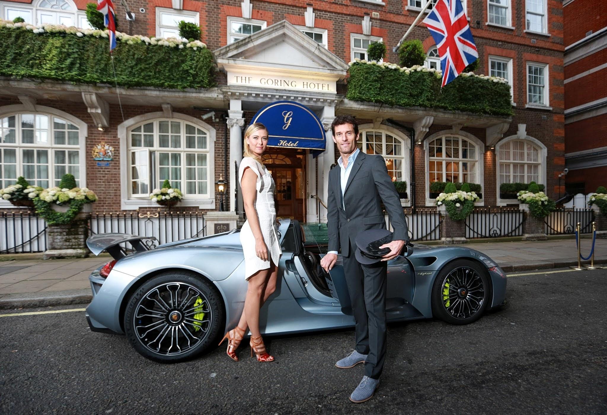 Maria_Sharapova_and_Mark_Webber_and_Porsche_918_Spyder Remarkable Porsche 918 Spyder In London Cars Trend