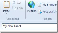 creating new label