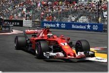 Kimi Raikkonen nelle qualifiche del gran premio di Monaco 2017