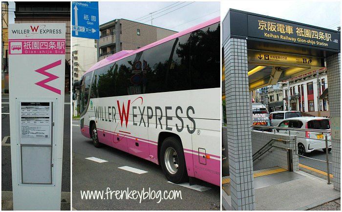 Bus Stop Gion Shijo Station, Willer Express Bus, Subway Gion Shijo