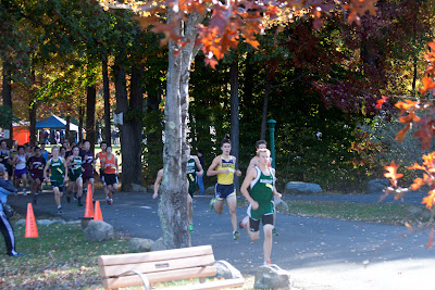 Men's group b start... Ben Malone of Pascack Valley already in front. Photo by Tom Hart #1