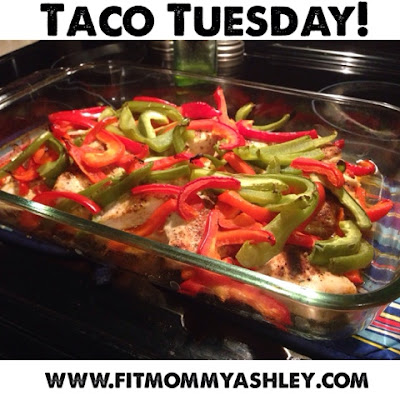 taco, tuesday, fajitas, mexican, clean eating, healthy, chicken, peppers, homemade, dinner, one dish, baked, 21 day fix