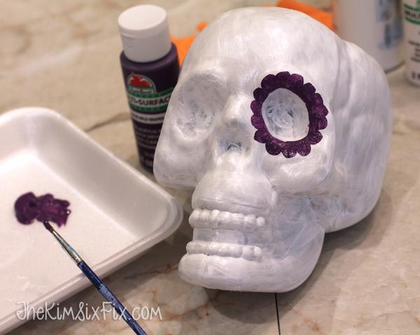 Painting sugar skull