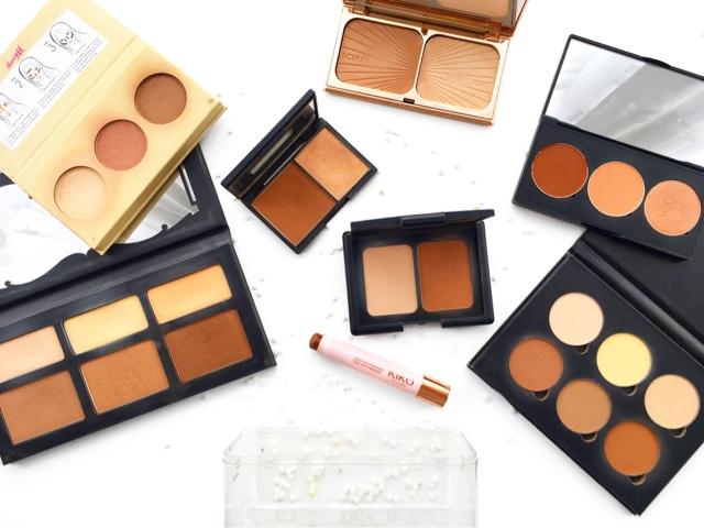 sleek face contour kit medium review, charlottte tilbury filmstar bronze and glow review
