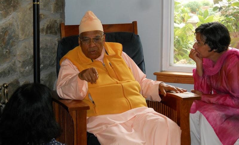 Swami Bhaskarananda visits in July