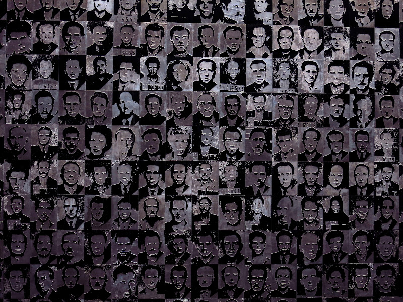 Terror Museum - wall of faces