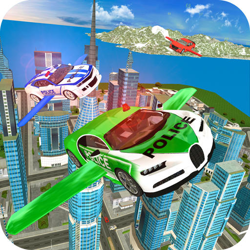 Drive Real Futuristic Police Flying Car 3D