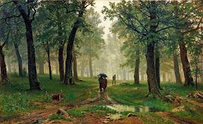 Дождь в дубовом лесу.1891 год.jpg