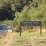 Welcome to Jounama Creek camping area sign