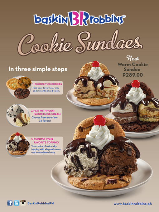 Baskin Robbins Cookie Sundaes
