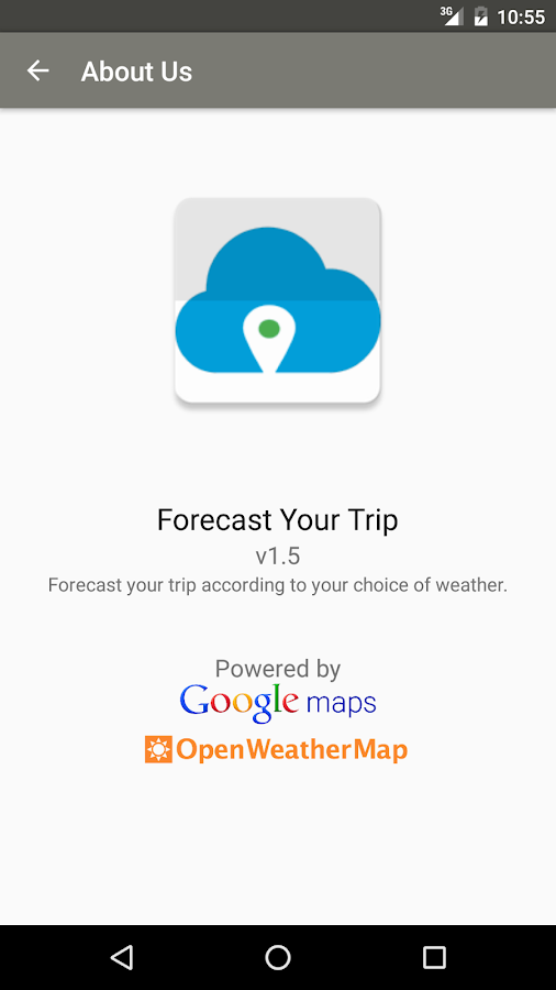 Forecast Your Trip- screenshot