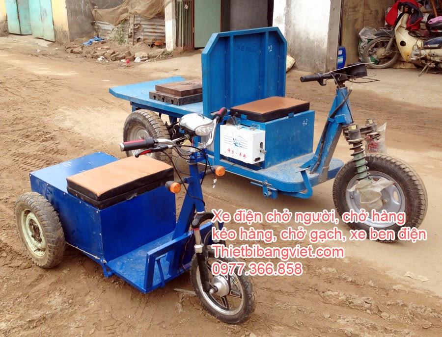Xe điện ba bánh chở hàng, kéo hàng