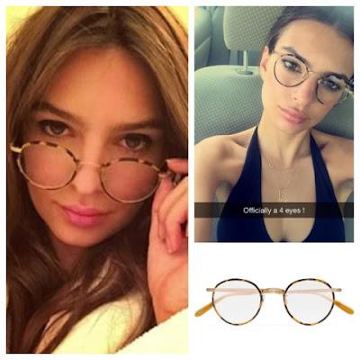 Emily Ratajkowski Emrata Instagram Garrett Leight Wilson Round Frame Glasses