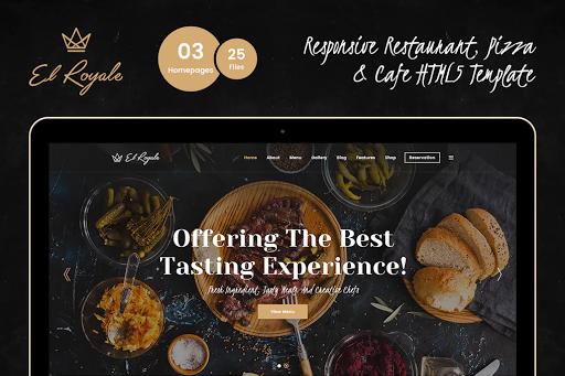 Template website nhà hàng
