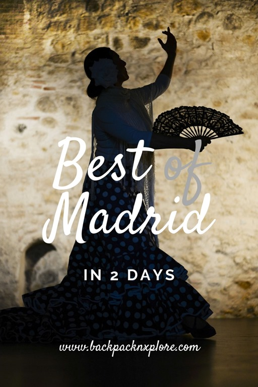 Explore the best of Madrid in 2 days. The Royal Palace, the picturesque parks, the public squares, the culture and the food - Explore and experience the Spanish Capital #backpacknxplore #Spain