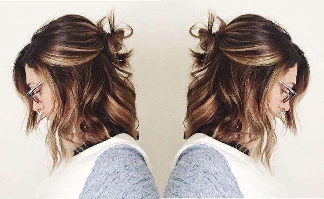 Half Bun Coque com cabelo solto