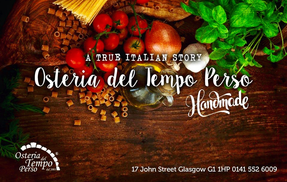 a few weeks ago i was invited along to the opening of new italian restaurant osteria del tempo perso in glasgows merchant city but as it clashed with our - Gerrys Italian Kitchen
